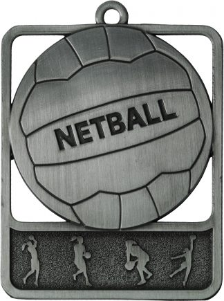 Netball Medal MR911S 61mm